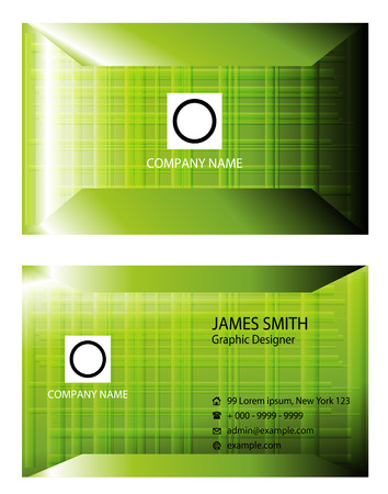 business card: Business Card vector Illustration