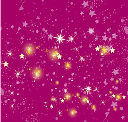 atmospheric: Christmas background in pink Illustration