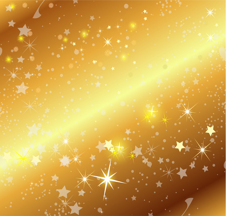 festiveness: Golden Background With Stars