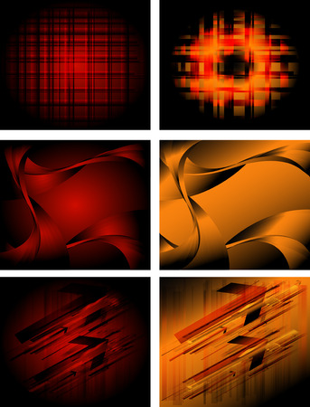 hitech: Hi-tech background collection Illustration