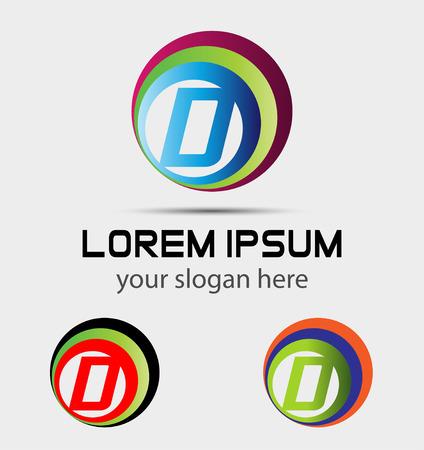 letter d: Letter D icon element