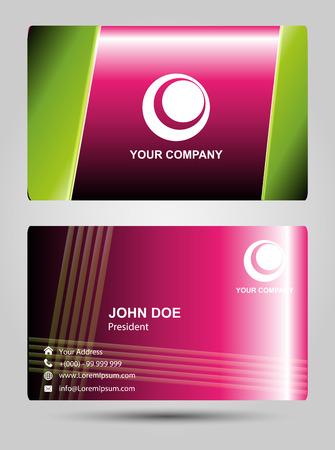 businesscard: Modern Business-Card Set vector pink