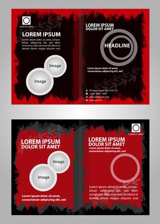 Red black Brochure Template Vector