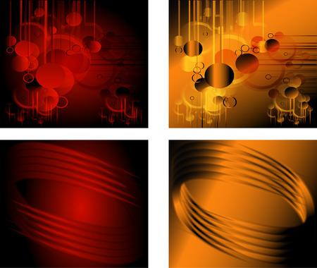 Red orange background set Vector