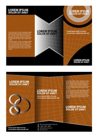 coworker banner: Tri-Fold Mock up & Brochure Design Illustration