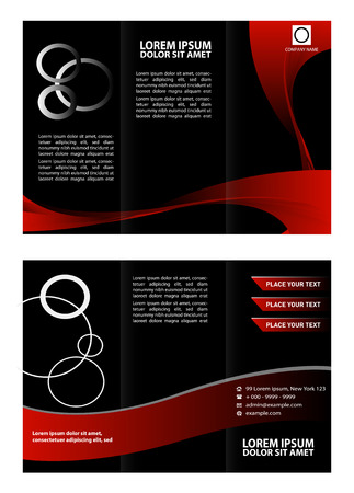 Corporate Tri Fold Brochure vector illustration