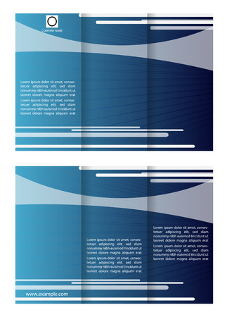 tri fold: Blue tri fold business brochure template