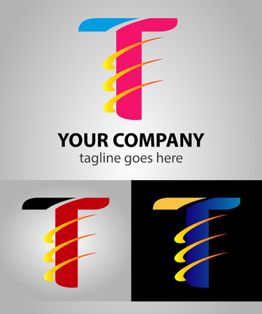 letter t: Abstract Letter T vector icon symbol Illustration
