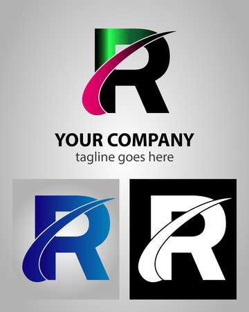 Abstract icon logo for letter R Vector