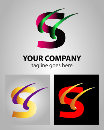 Abstract icon logo for letter S Vector