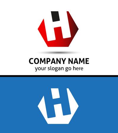 Elegant vector graphic alphabet symbol / letter H logo