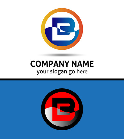 Abstract icon logo for letter B Illustration