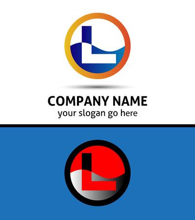 Illustrazione vettoriale delle icone astratti basato sulla lettera L logo Archivio Fotografico - 35521331