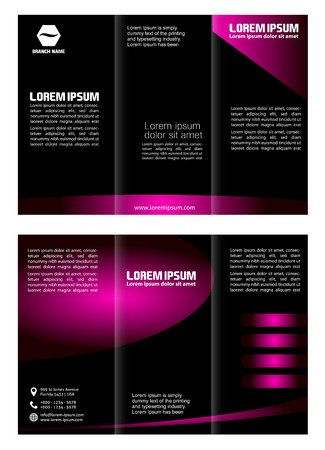tri color: Trifold Brochure Design Vector Template