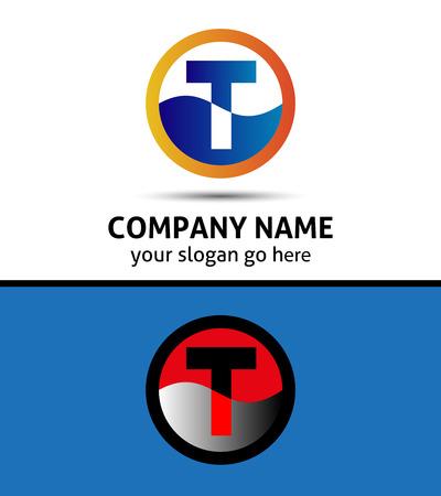 Letter T logo symbol template elements Vector