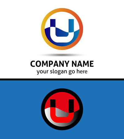 letter u: Letter U logo symbol design template elements