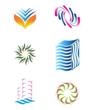 Abstract icon template set Vector
