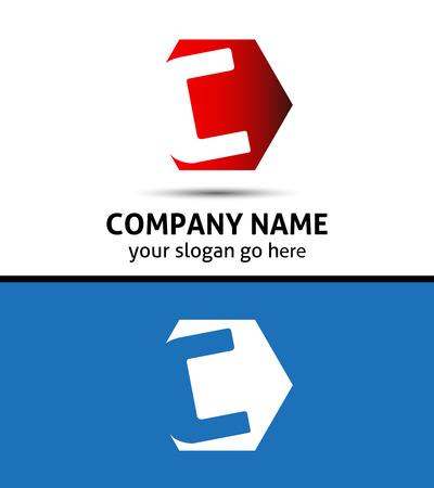 Vector design élégant symbole de l'alphabet Lettre C logo