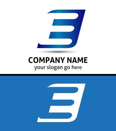 e card: Corporate Letter company vector design template
