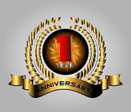 one year old: Celebrando 1 A�os Aniversario Retro Label