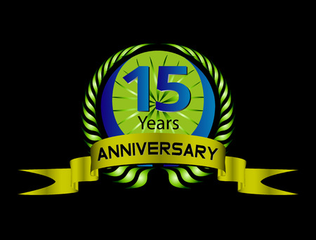 15 year Anniversary vector celebration Vector