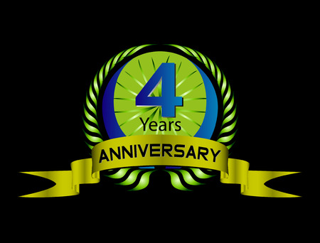 4 年間の誕生日のお祝い、4 周年記念セット