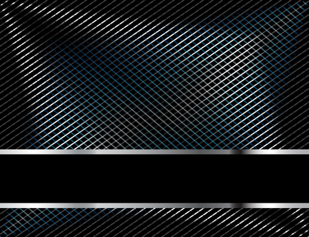 Abstract metallic black background Illustration