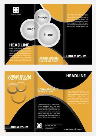tri fold: Brochure design template tri fold Illustration
