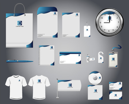 advertising template: Corporate identity template