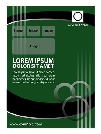 a5: Flyer, leaflet, booklet layout. design template Illustration