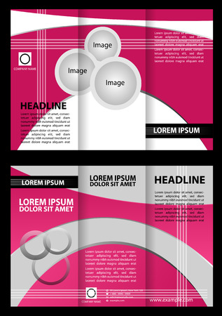 beautyful: Corporate Tri Fold Brochure with pink color