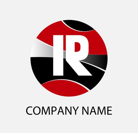 r: Letter R logo icon template elements Illustration