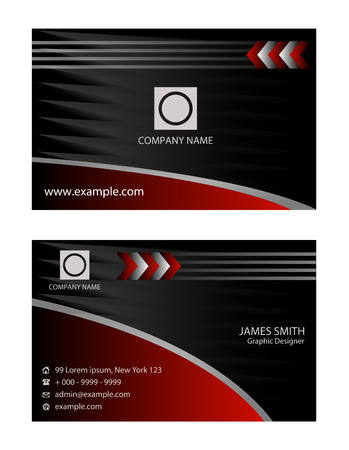 business card: Creative red business card Illustration