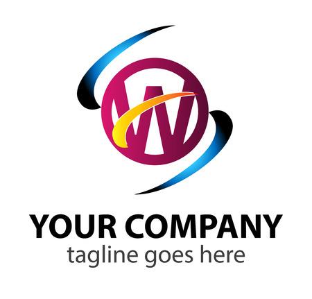 alphabetic: Letter W design template letter W icon