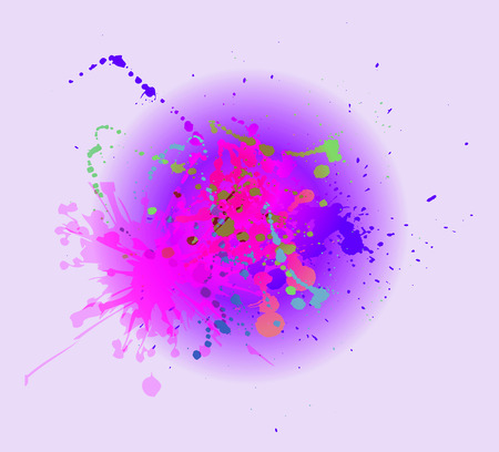 painterly effect: Watercolor pink splashes on the white. Watercolor background