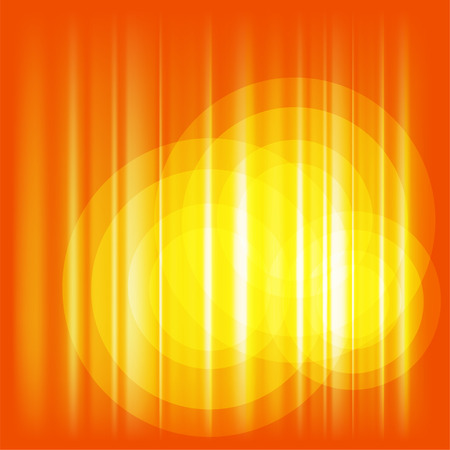 saturated color: Orange Background  with circle template Stock Photo