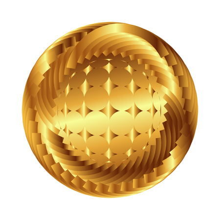 Sphere  symbol. Abstract globe with star, business concept photo