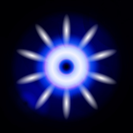 Abstract dark blue lights in circle ray background Stock Photo