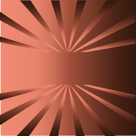 alluminum: Brown rays background with place for your text