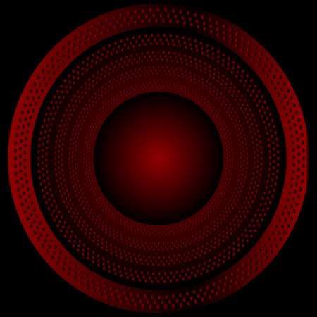brushed metal texture: Circular brushed metal texture with dots  red background
