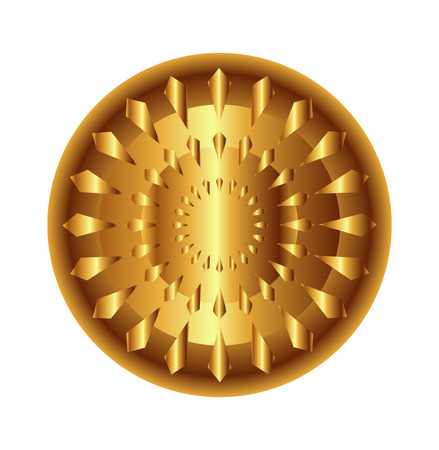 light circular: Golden light circular radial geometric dynamic shapes for technology and science