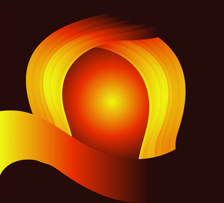 Orange abstract wave swirl background photo
