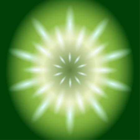ray of light: Ray circular light  green Background Stock Photo