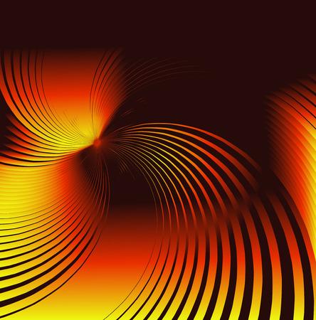 helical: Orange twirl background Stock Photo
