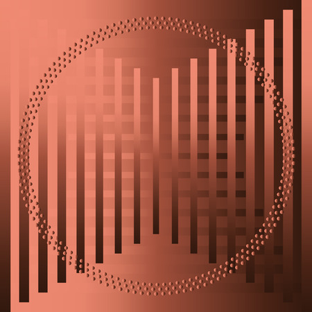The  brown abstract grid circle background Banco de Imagens