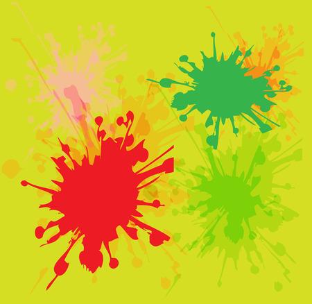 painterly effect: Watercolor paint splash