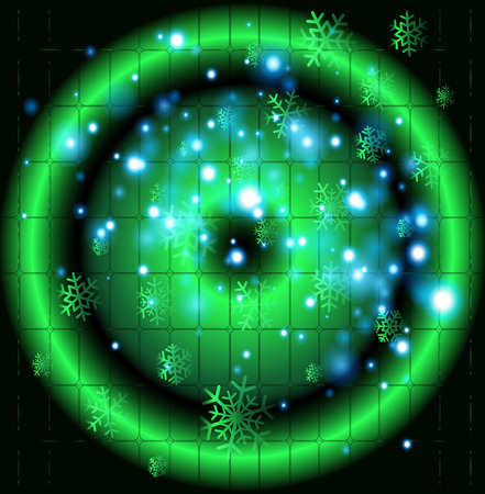 Green circle Christmas background template