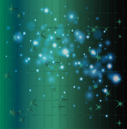 spacetime: Grid bokeh green background abstract