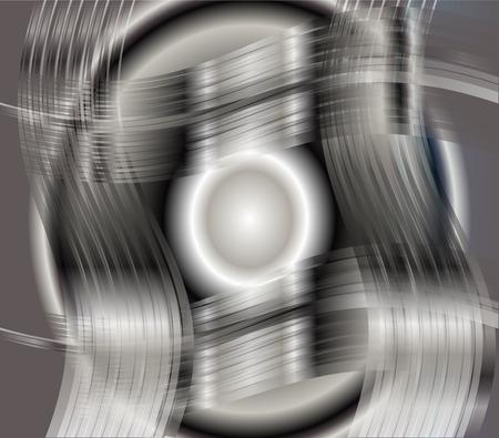 Metallic black and white background