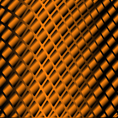 industrial background: glossy background. Metal and orange